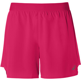 "asics 2-N-1 5"" Shorts Women laser pink/performance black"